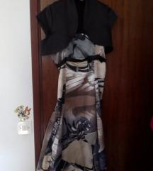 Svilena haljina s bolerom za razne svečanosti !
