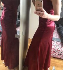 UNIKAT satinirana haljina+rukavice🎁naušnice 36
