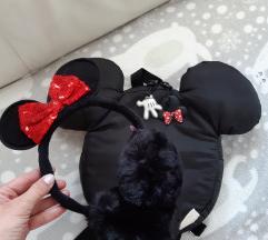 Zara Mickey ruksak + Minnie grijači za uši