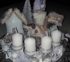 Adventski vijenac ( ledeno snježna bajka)