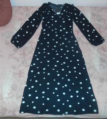 Crna haljina s točkicama nova s etiketom