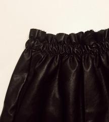 Crna kožna suknja - novo