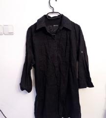 Crna duža košulja/tunika