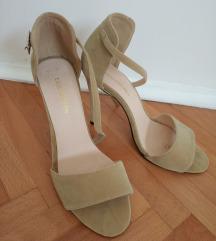 Sandale na petu,bež 39