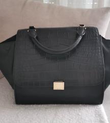 Celine trapez crna kozna torba - original