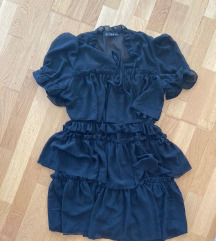 shein boho crna kratka haljina 36