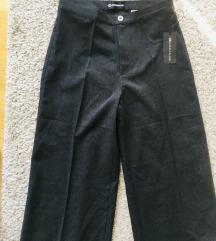 Nove tamnosive široke hlače visoki struk vel 36-38