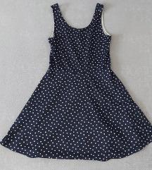 h&m haljina, tamno plava