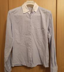Plava poslovna košulja s bijelim ovratnikom