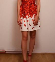 Bijelo crvena haljina