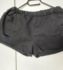 Crne jeans kratke hlačice