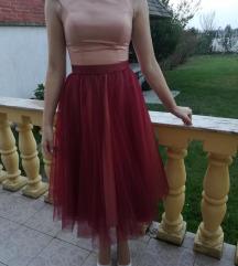 Svečana bordo haljina