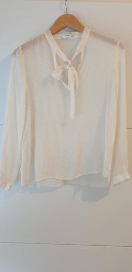 NOVO-Mango 100%svila bluza s mašnom