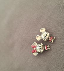 Novo Mickey i Minnie srebrni privjesci