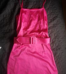 Zara pink santirana haljina