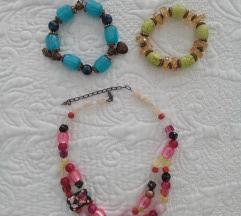 Lot ogrlica+2 narukvice
