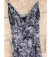 ESPRIT svilena tigrasta haljina sa volanima - NOVO