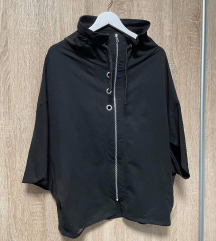 Broth crni pamučni kardigan/tunika