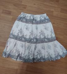 Nude pamučna suknja S/M