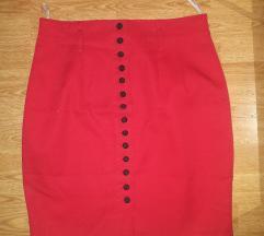NOVo crvena suknja s crnim botunima