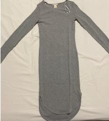 H&M uska siva haljina