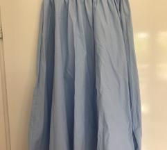 Zara suknja svjetlo plava