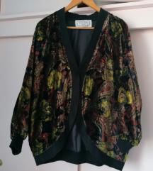 Retro vintage cvjetna vesta jakna šarena