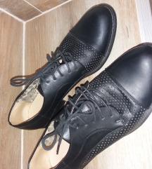 Crne kozne cipele oxfordice