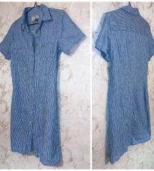 Eddie Bauer - striped button-down dress - 40