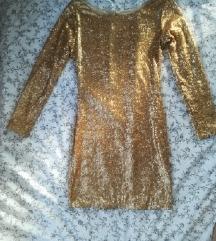 Zlatna haljina s ljuskicama
