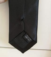 Unisex, crna tanka kravata