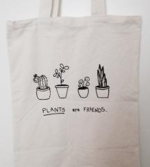 platnena torba/ plants. /ručni rad