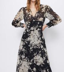 Zara haljina s cvjetnim printom NOVA
