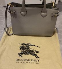 RezzBurberry siva kožna torba