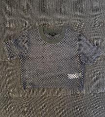 Sivi rupičasti crop top