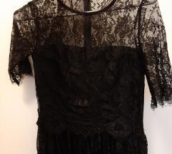 Crna haljina od cipke