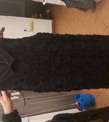 Crna haljina s kragnicom+pojas