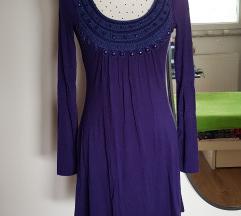 Tamnoplavo-ljubicasta haljina