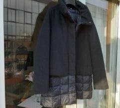 Crna dvoslojna kaput jakna