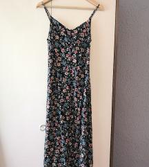 Midi haljina sa cvjetnim uzorkom