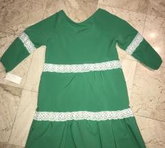 Jesenska zelena haljina