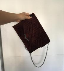 Bordo brušena pismo torbica