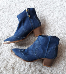 Stradivarius denim cowboy boots, 39