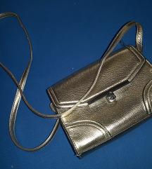 Zlatna metalic torbica