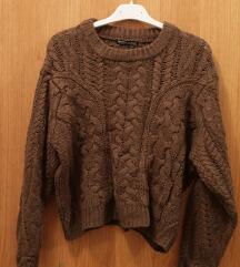 maslinasta knit vesta