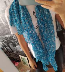 Plavo bijela marama s uzorkom