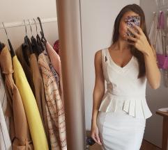 Bijela peplum haljina