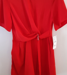 %Zara crveni kombinezon sa pojasom