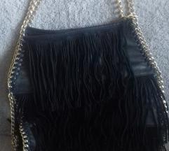 Crna torba sa resicama