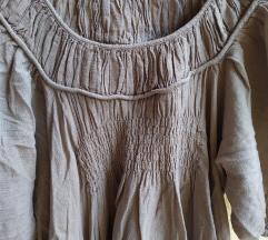 Oversize plus size siva haljina
